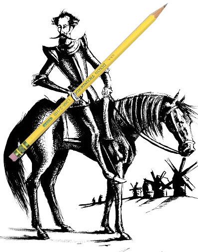 Don Quixote with Lead Pencil